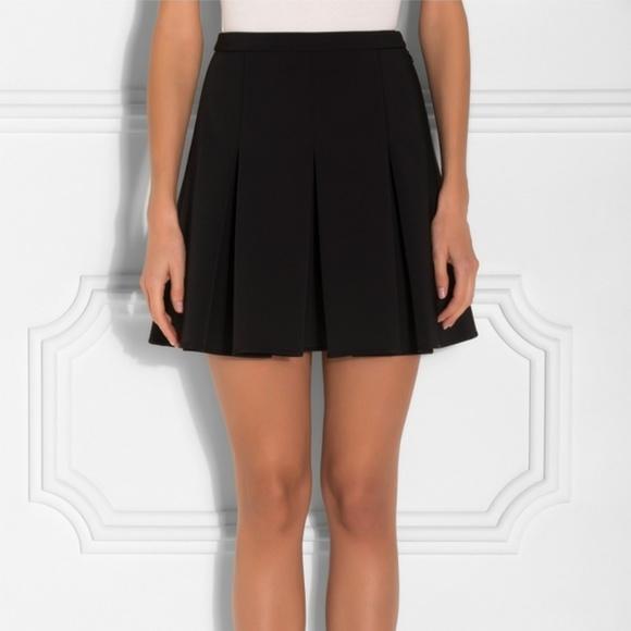 76e4e0635ed Alexander Wang inverted box pleat black skirt BNWT